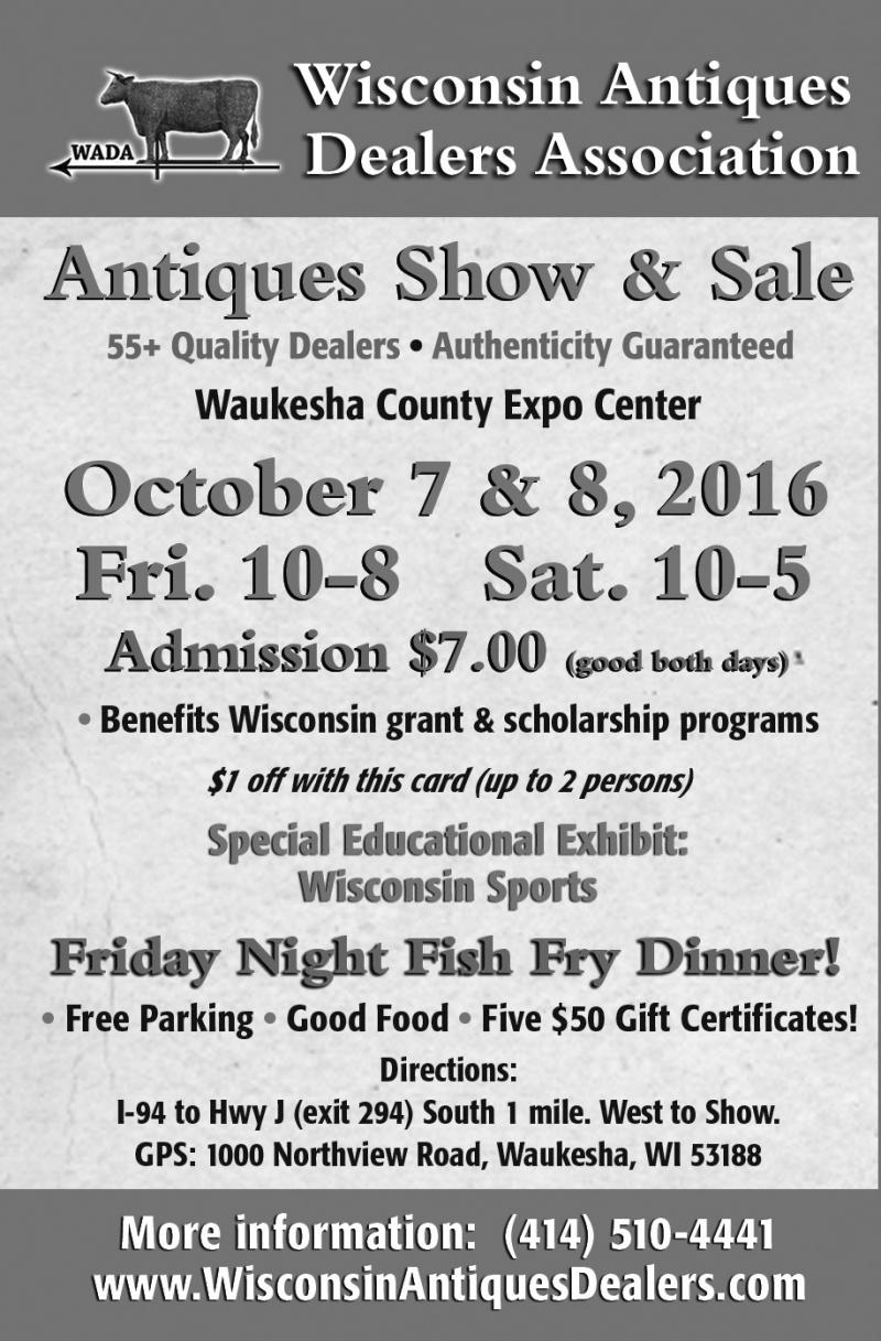 Wisconsin Antiques Dealers Association Fall Show